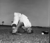 George Susce limbering up -- in 1961 or '62