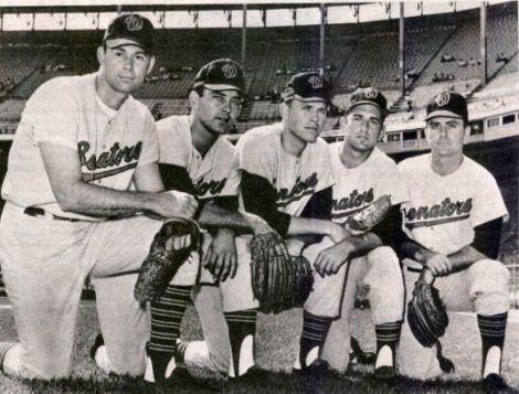 Dave Baldwin, Darold Knowles, Casey Cox, Dick Lines, and Bob Humphreys.